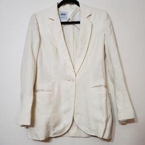 Moschino Cheap & Chic White 100% Linen Blazer sz 6